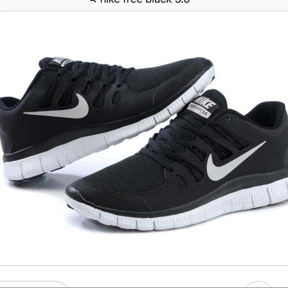 Nike Free 5.0 Black Running Sneakers